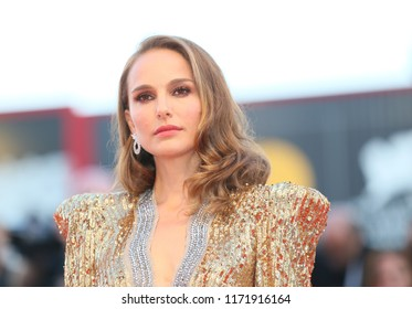 Natalie Portman walks the red carpet ahead of the 'Vox Lux' screening during the 75th Venice Film Festival at Sala Grande on September 4, 2018 in Venice, Italy
