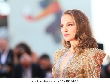Natalie Portman walks the red carpet ahead of the 'Vox Lux' screening during the 75th Venice Film Festival at Sala Grande on September 4, 2018 in Venice, Italy.