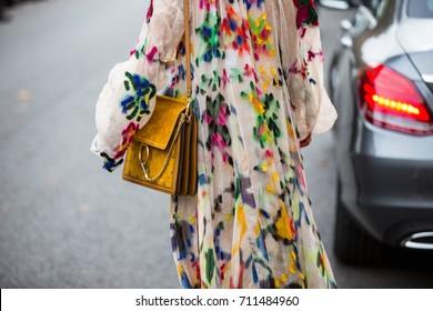 Natalie Wu October 1, 2016 before Chloe show during Paris fashion week, street style