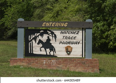 Natchez Trace Sign in Mississippi