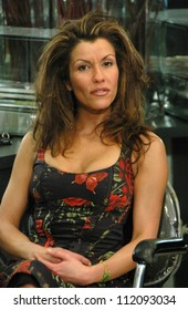"""Nathalie Du Mortier on the set of a Television Commercial for """"Hair On"""". Private Location, Los Angeles, CA. 03-18-07"""
