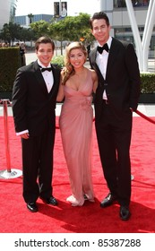 Nathan Kress, Jennette McCurdy, Jerry Trainor at the 2011 Primetime Creative Arts Emmy Awards, Nokia Theatre L.A. Live, Los Angeles, CA. 09-10-11