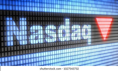 The National Association of Securities Dealers Automated Quotation is an American stock exchange. 3D Illustration.