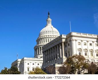 National Capitol building, Washington DC, United States landmark.