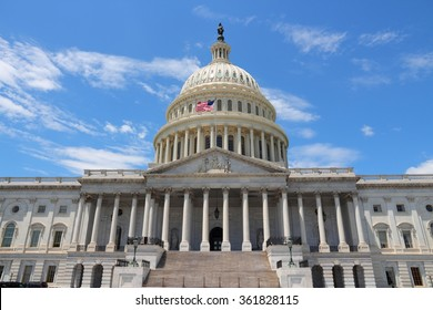 National Capitol in Washington DC, United States landmark.