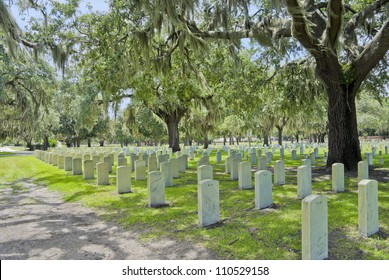 The National Cemetery, commissioned by Abraham Lincoln, in Beaufort, South Carolina.