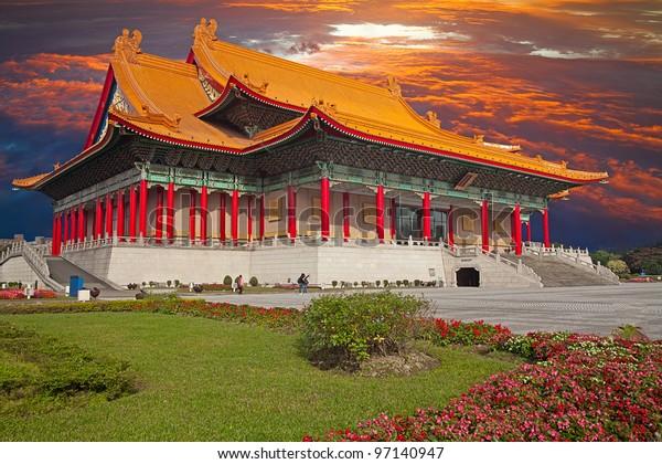 National Concert Hall, Taiwan with nice sky