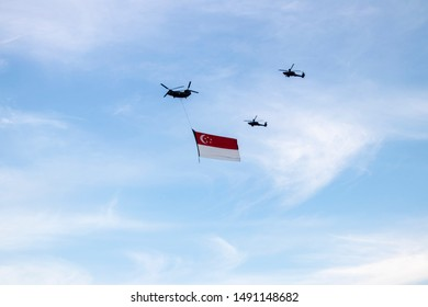 National Day Parade (NDP) 2019 in Singapore as she marks her 54th Birthday and bicentennial year since the arrival of Raffles in Singapore