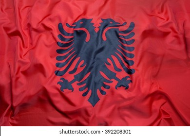 National flag of Albania for a background