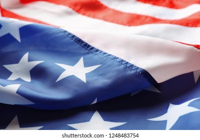 National flag of America as background, closeup