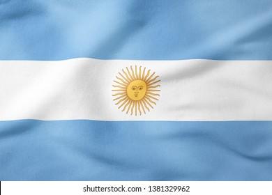National Flag of Argentina - Rectangular Shape