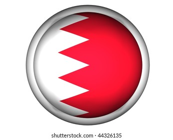 National Flag of Bahrain | Button Style |