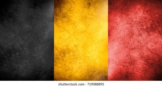 National flag of Belgium (textured)