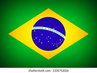 National flag of Brazil, official the Federative Republic of Brazil.