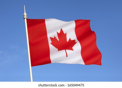 The national flag of Canada, also known as the Maple Leaf. The flag made its first official appearance on February 15, 1965; the date is now celebrated annually as National Flag of Canada Day.