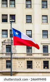 National flag of Chile.
