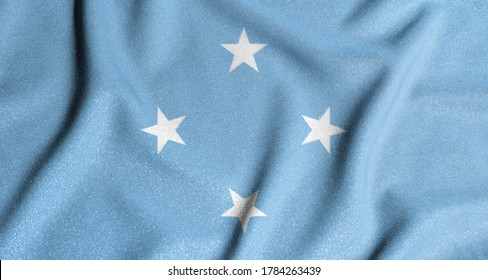 National flag of the federal states of micronesia. The main symbol of an independent country. Flag of federal states of micronesia. An attribute of the large size of a democratic state.