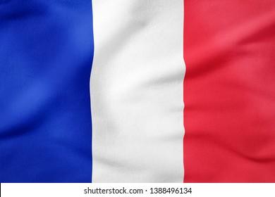 National Flag of France - Rectangular Shape patriotic symbol