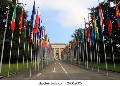 national flag in front of united nation
