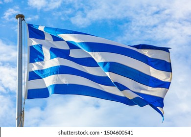 The national flag of Greece