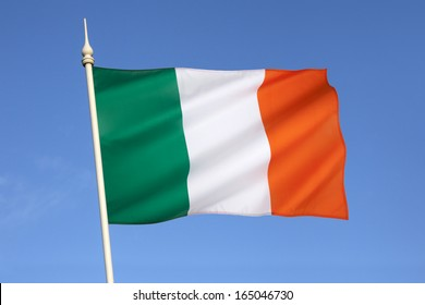 The national flag of Ireland - frequently referred to as the Irish tricolor.