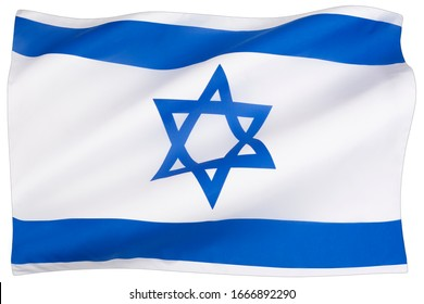 The national flag of Israel - adopted on 28 October 1948, five months after the establishment of the State of Israel.