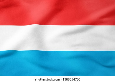 National Flag of Luxembourg - Rectangular Shape patriotic symbol
