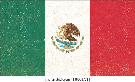 National Flag of Mexico - Rectangular Shape patriotic symbol