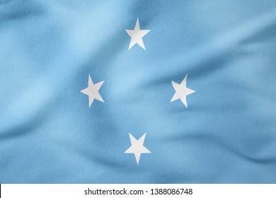 National Flag of Micronesia - Rectangular Shape patriotic symbol