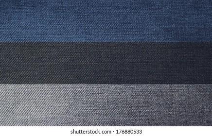 National flag on denim texture: Estonia