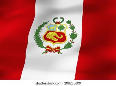 The National Flag Of Peru