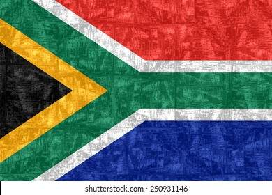 National flag of South Africa - fluid textured version