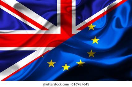 National flag of UK-EU