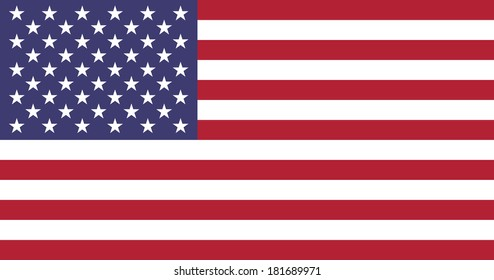 """The national flag of the United States of America - Authentic 10:19 """"G-spec"""" (for """"government specification"""") Scale. Authentic colors -  Blue relative SRGB hex #3c3b6e Red relative SRGB  hex #b22234"""