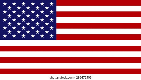 National flag of the United States of America..
