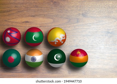 National Flags image of southwest Asian countries