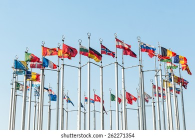 National flags of various countries .
