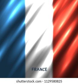 National France flag background. Great 8 country French standard banner backdrop