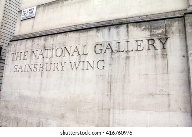 National gallery and Trafalgar Square. London,UK