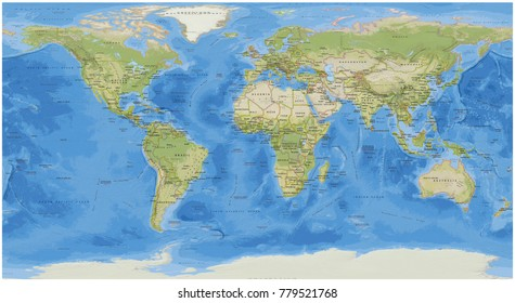World physical vector map stylized using stock vector 503406085 national geographic world map gumiabroncs Image collections