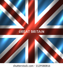 National Great Britain flag background. G8 country United Kingdom standard banner backdrop