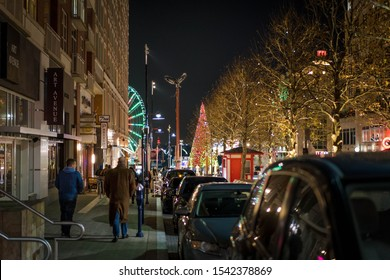 National Harbor, Maryland, United States - Christmas 2018: Photo of the National Harbor in Maryland during the annual tree lighting.