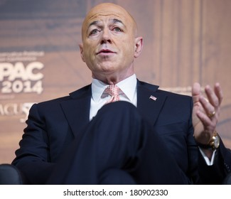 NATIONAL HARBOR, MD - MARCH 7, 2014: Former New York City Police Commissioner Bernard Kerik speaks at the Conservative Political Action Conference (CPAC).