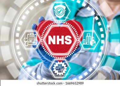National Health Service (NHS) Concept. Medical Care Insurance Public Department.