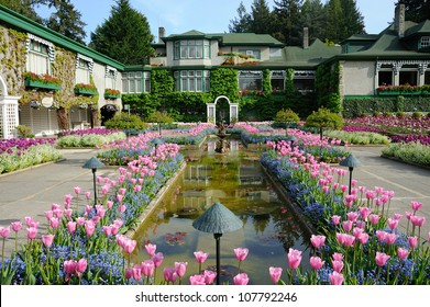 national historical site italian garden in summer, vancouver island, british columbia, canada