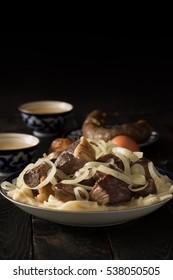 National Kazakh dish - Beshbarmak