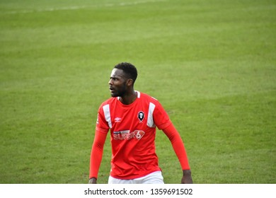 National League football match, Salford City FC v Barnett FC dated on 23.03.2019 at the Peninsula Stadium, Moor Lane, Salford, England.