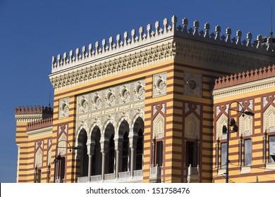 National Library - detail, Sarajevo, Bosnia and Herzegovina.