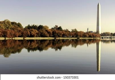 the National Mall at autumn. Washington, DC