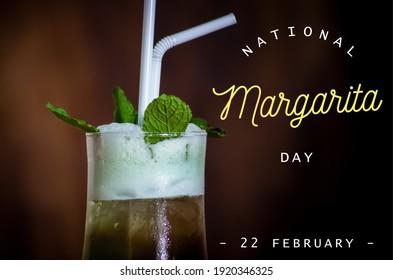 National margarita day, text on image, 22nd February